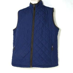 Field & Stream Quilted Bomber Vest Full Zip Size L